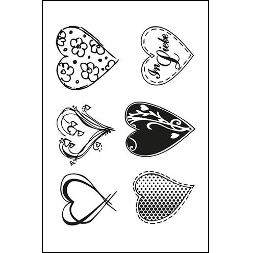 Clear Stamps - Herzen