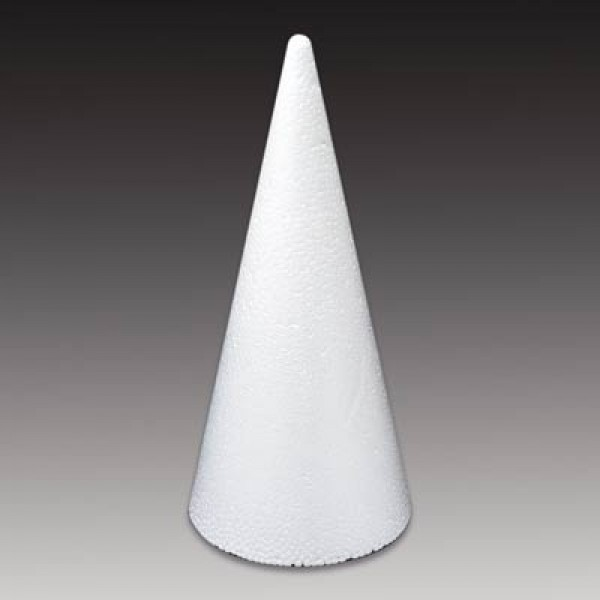 Styropor-Kegel, weiß, 20 cm