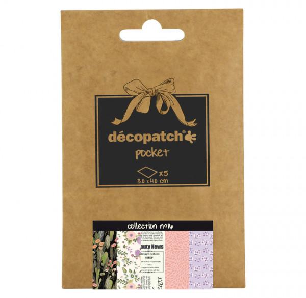 Decopatch Pocket Papier, 5er Sortiment, Collection No 16