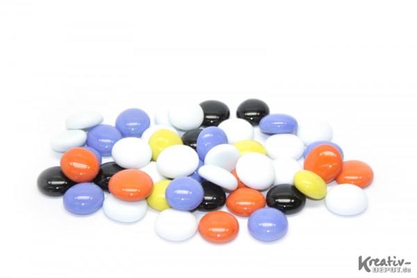 Glas-Nuggets, 200 g, Ø ca. 2 cm, opak, Mix bunt