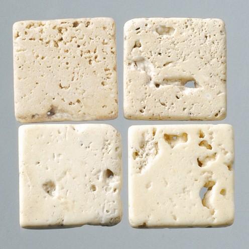 Efco Mosaik Echtstein pur, 10 x 10 mm, creme / braun Struktur