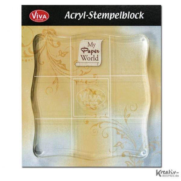 Viva Decor Acryl-Stempelblock, 10 x 10 cm