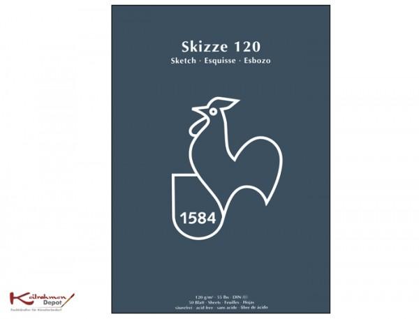 Skizzenblock 120 g/m², DIN A4, 50 Blatt