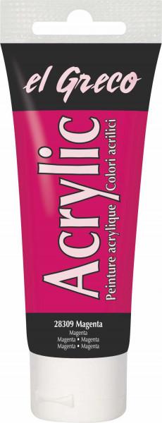 Acrylfarbe el Greco Acrylic, 75 ml - Magenta