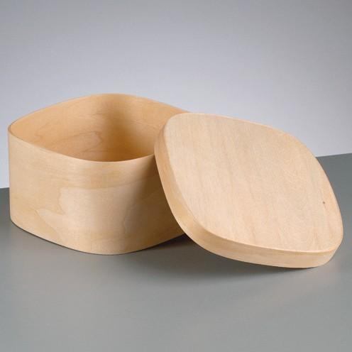 Spanschachtel, quadratisch, 12,5 x 12,5 x Höhe 7 cm