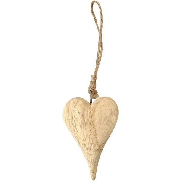 Herz aus Holz, 9,5 cm