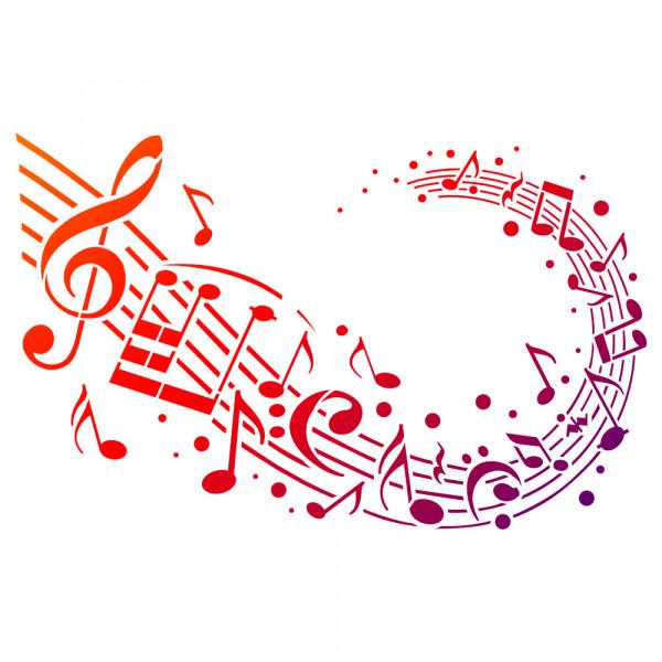 Viva Decor Universal-Schablone, DIN A3, Musik