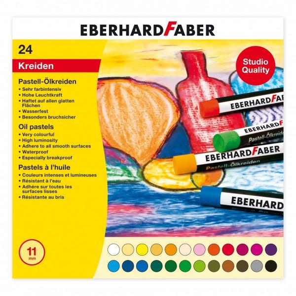EBERHARD FABER Pastell-Ölkreide, 24 Farben im Kartonetui