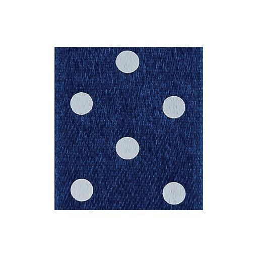 Satinband Punktedruck - doppelseitig, 25mm - dunkelblau