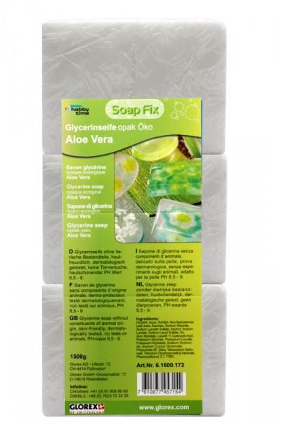 Glycerinseife, mit Aloe Vera, Öko opak, weiß, 1500 g
