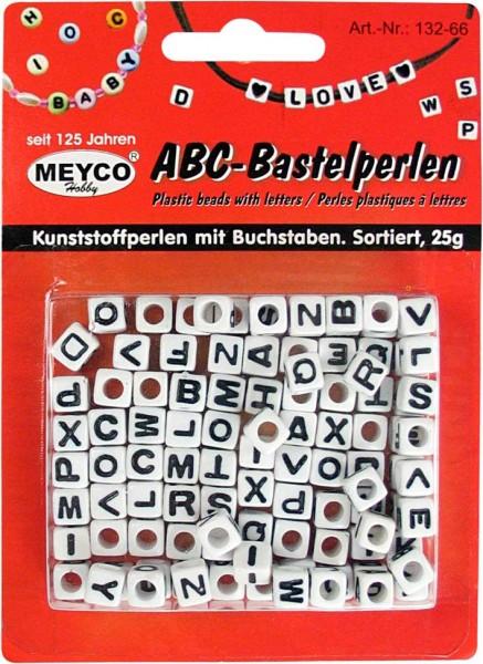 ABC-Kunststoffperlen, 25g, Würfel