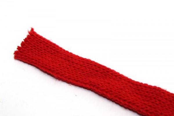 Dänischer Strickschlauch, 1 m x 1,5 cm, rot