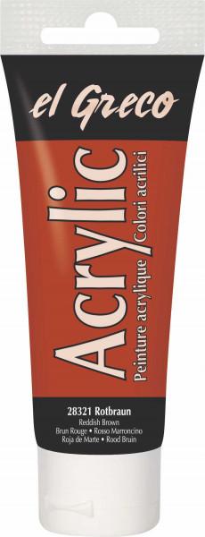 Acrylfarbe el Greco Acrylic, 75 ml - Rotbraun