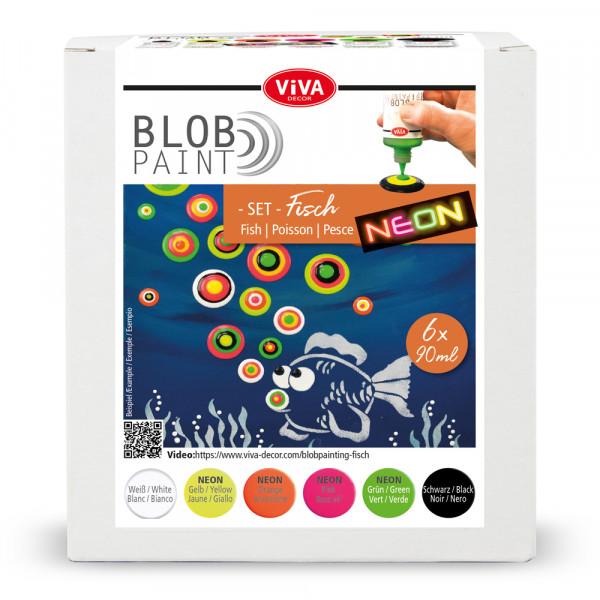 Blob Paint FarbSet Fisch, 6 tlg. 6 x 90 ml