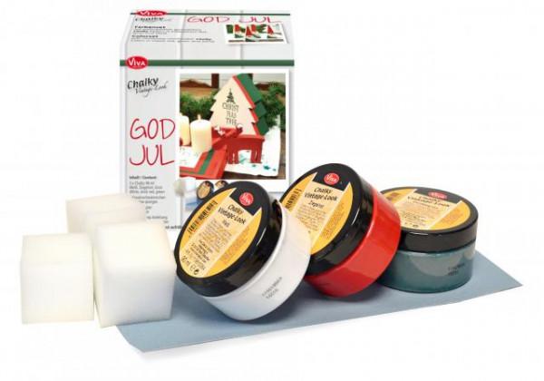 Viva Decor Set Chalky Vintage-Look - Weihnachts-Edition God Jul