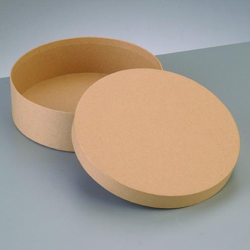 Box Rund, aus Pappmaché, Ø 16,5 x 8 cm