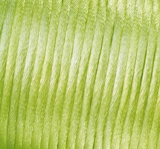 Satin Flechtkordel, Länge 50 m, Stärke 2 mm, hellgrün