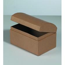 Box Truhe, aus Pappmachè, 12 x 8 x 7,5 cm