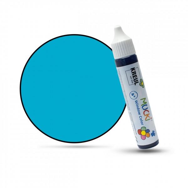 Mucki Window Color Pen, Fenstermalfarbe, 29 ml, türkis
