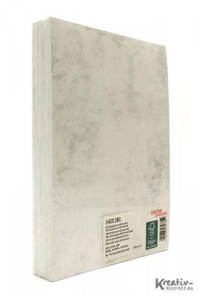 Doppelkarten, DIN A5, 21x14,8cm, 50 Stück, marmor