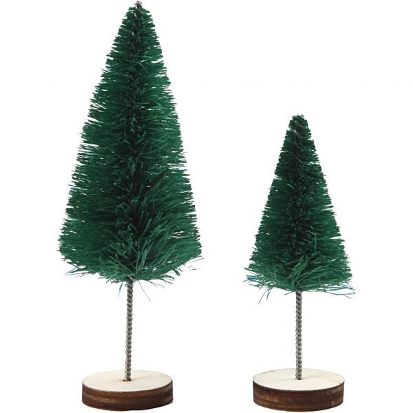 Tannenbäume, Höhe 40 + 60 mm, 5 Stück