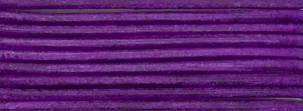 Lederriemen, 1,2 mm Ø - 1 m, Ziegenleder, flieder