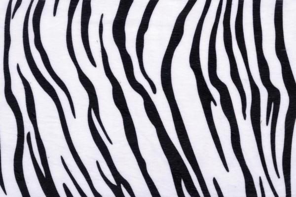 Plüsch, Tierfellimitat, 50 x 70 cm, 2,5 mm, Zebra