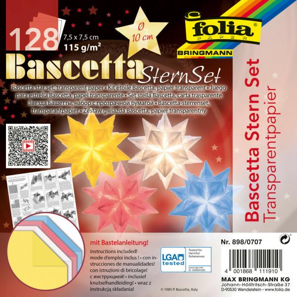 "Faltblätter Bascetta-Sterne-Set ""Pastell"", 7,5 x 7,5 cm"