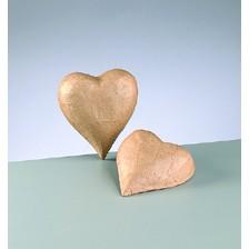 3D-Element Herz, aus Pappmachè, 12,5 x 10,5 x 3 cm