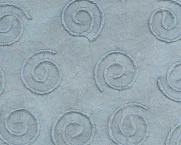 Naturpapier Spiralen geprägt, 50x70 cm, hellblau