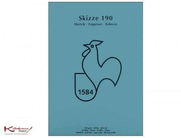 Skizzenblock 190 g/m², DIN A4, 50 Blatt