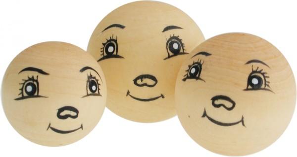 Puppenkopf Puppenkopf, aus Holz, 3 Stück