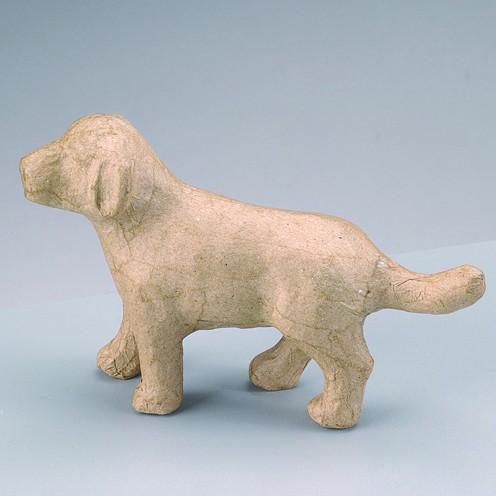 Hund, aus Pappmachè, 14,5 x 4 x 9 cm