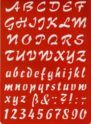 Buchstaben-Schablone ABC Schreibschrift cursive