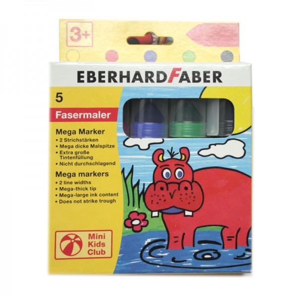 EBERHARD FABER Mega Marker, 5 Fasermaler