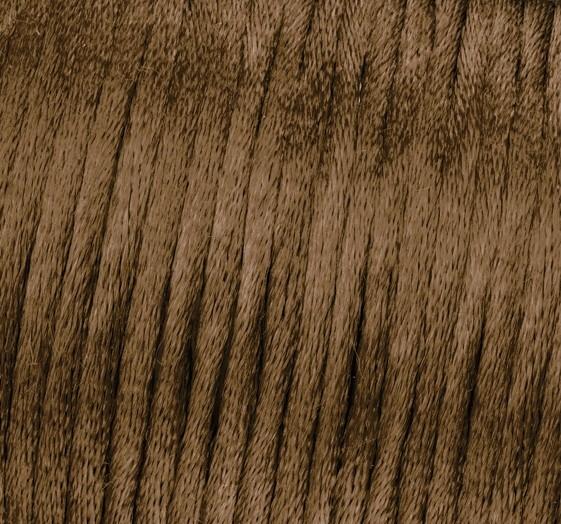Satin Flechtkordel, Länge 6 m, Stärke 2 mm, schoko