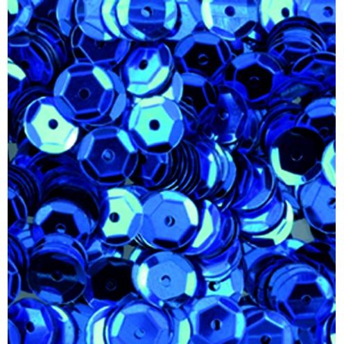 Pailletten, rund, gewölbt, 6 mm, 4000 St, blau