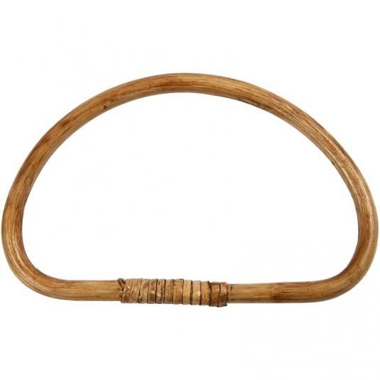Taschengriff, aus Bambus, 1 Stück, 20x13 cm