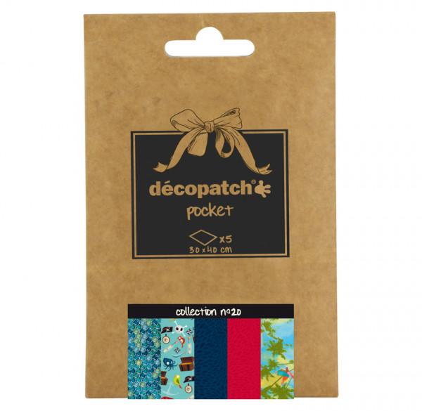 Decopatch Pocket Papier, 5er Sortiment, Collection No 20