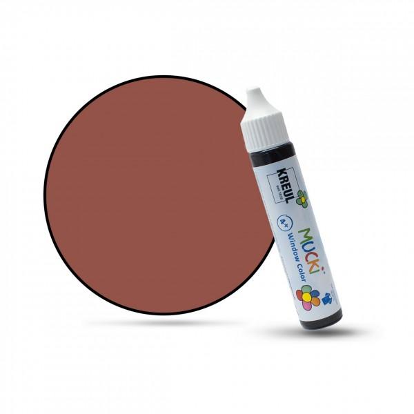 Mucki Window Color Pen, Fenstermalfarbe, 29 ml, dunkelbraun