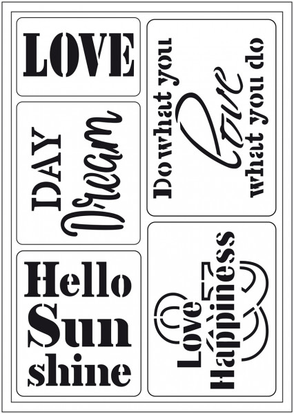 Viva Decor Flex-Schablone A5 - Hello Sunshine