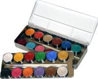 Eulenspiegel Schminkfarben, Metall-Palette, 24 Farben