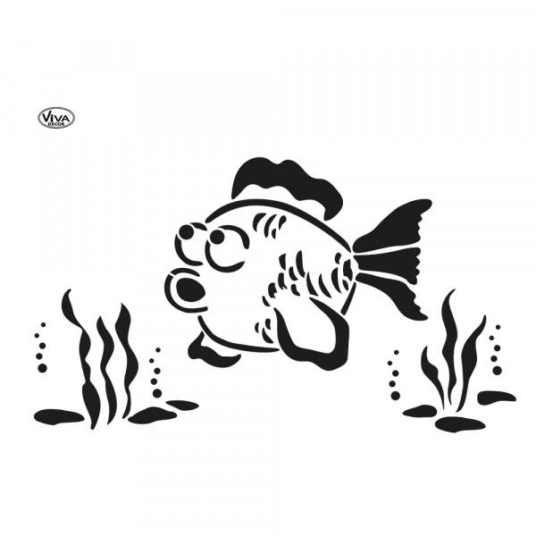 Universal-Schablone A3 Blob Paint Fisch