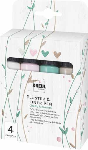 Kreul Pluster & Liner Pen, 4er Set Chalky Moments
