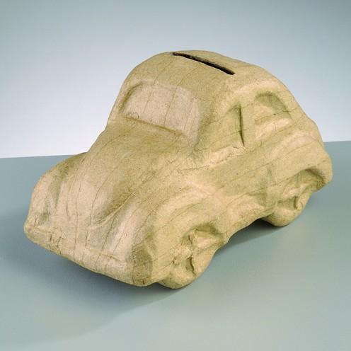 Spardose VW Käfer, aus Pappmachè, 16,5 x 8,5 x 9 cm