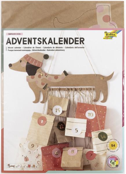 """Adventskalender-Set """"Sausage Dog"""", 54 Teile"""