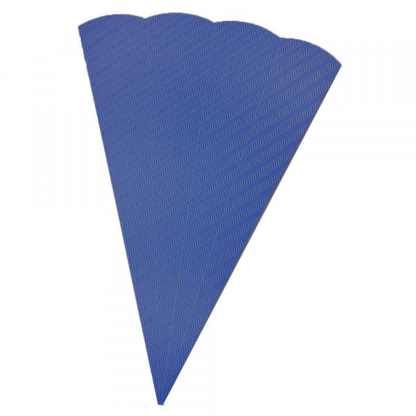Schultüten Rohling W-Welle, 20 x 68 cm, Blau