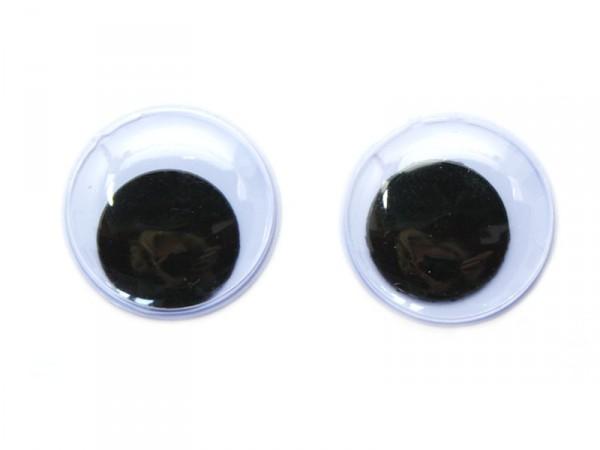 Wackelaugen, selbstklebend, rund, Ø 15mm, 24 Stück