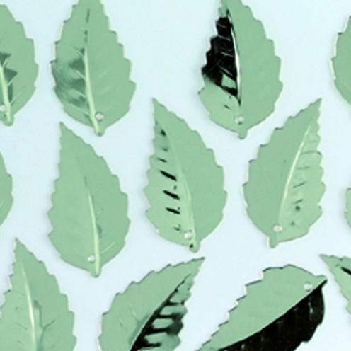 Pailletten-Blatt, geprägt, 12x18mm, 2 g, silber