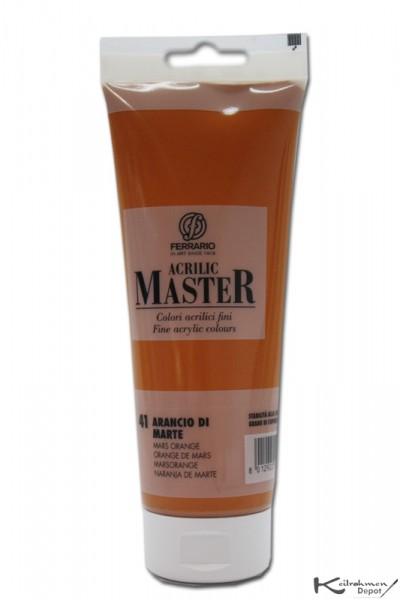 Ferrario Acrilic Master Acrylfarbe, 250 ml, Marsorange